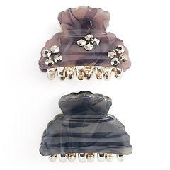 Studded Jaw Hair Clip Set