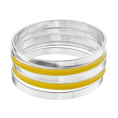 Epoxy Bangle Bracelet Set