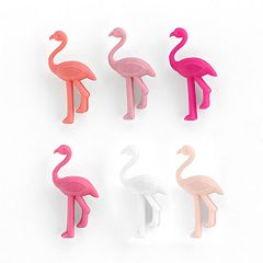 LC Lauren Conrad 6-pc. Flamingo Wine Glass Charm Set