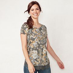 Women's LC Lauren Conrad Lace-Trim Top