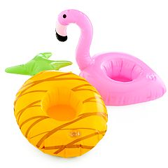 LC Lauren Conrad Pineapple & Flamingo Floating Drink Holders