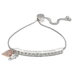 Brilliance 'Greatest Friend' Adjustable Bracelet with Swarovski Crystals