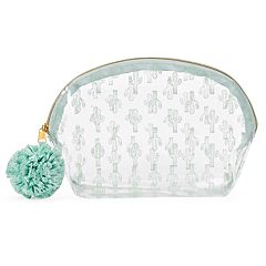 LC Lauren Conrad Clear Cactus Cosmetic Bag