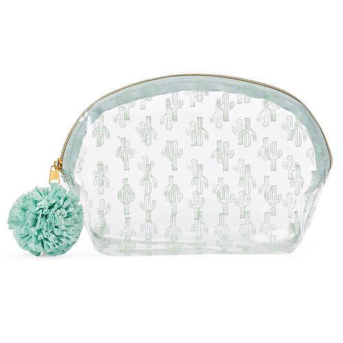 LC Lauren Conrad Clear Cactus Cosmetic Bag