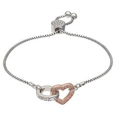 Brilliance 'Love You More' Adjustable Bracelet with Swarovski Crystals