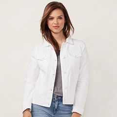 Women's LC Lauren Conrad Frayed Jean Jacket
