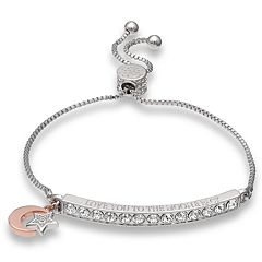 Brilliance 'Love You to the Moon & Back' Adjustable Bracelet with Swarovski Crystals