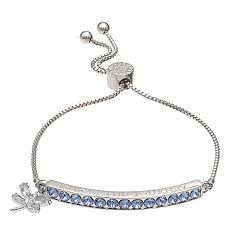 Brilliance 'Enjoy the Journey' Adjustable Bracelet with Swarovski Crystals