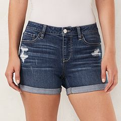 Women's LC Lauren Conrad Cuffed Jean Shorts
