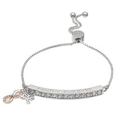 Brilliance 'Family Forever' Adjustable Bracelet with Swarovski Crystals