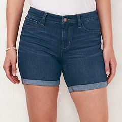 Women's LC Lauren Conrad Mid-Length Cuffed Jean Shorts