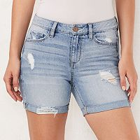Women's LC Lauren Conrad Faded Cuffed Jean Shorts
