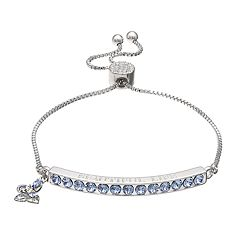 Brilliance 'Beautiful Life' Adjustable Bracelet with Swarovski Crystals