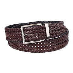 Men's Chaps Reversible Braided Belt