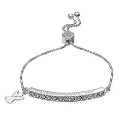 Brilliance 'Watch Over Me' Adjustable Bracelet with Swarovski Crystals