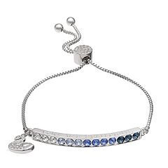 Brilliance 'You Are Beautiful' Adjustable Bracelet with Swarovski Crystals