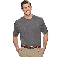 Big & Tall Van Heusen Air Classic-Fit Mock-Layer Crewneck Tee