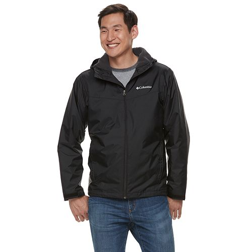 Big & Tall Columbia Weather Drain Colorblock Hooded Sherpa-Lined Jacket