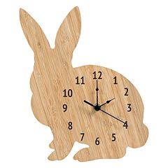Trend Lab Wooden Bunny Wall Clock
