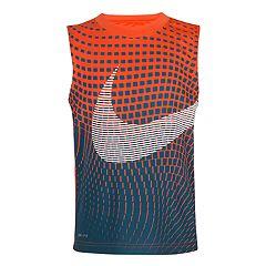 Boys 4-7 Nike Reverberating Print Dri-FIT Swoosh Tank