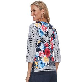 Women's Alfred Dunner Studio Abstract Floral Top
