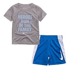 Toddler Boy Nike 'Heroes Run In The Family' Graphic Tee & Shorts Set