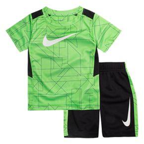 Toddler Boy Nike Abstract Top & Shorts Set