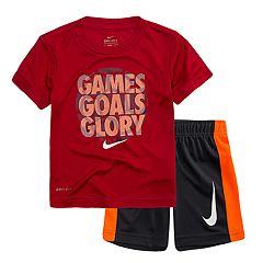 Toddler Boy Nike 'Games Goals Glory' Tee & Shorts Set