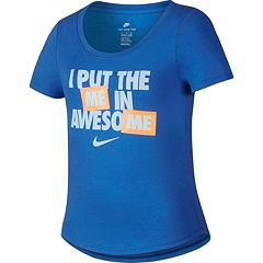 Girls 7-16 Nike I Put The Me In Awesome Tee