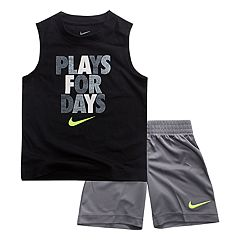 Toddler Boy Nike 'Plays For Days' Muscle Tee & Shorts Set