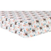 Trend Lab Scandi Forest Deluxe Flannel Fitted Crib Sheet