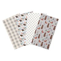 Trend Lab Scandi Cocoa 4 pkFlannel Burp Cloths