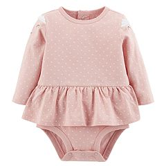Baby Girl Carter's Peplum Cat Polka-Dot Bodysuit