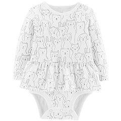 Baby Girl Carter's Peplum Animal Sketch Bodysuit