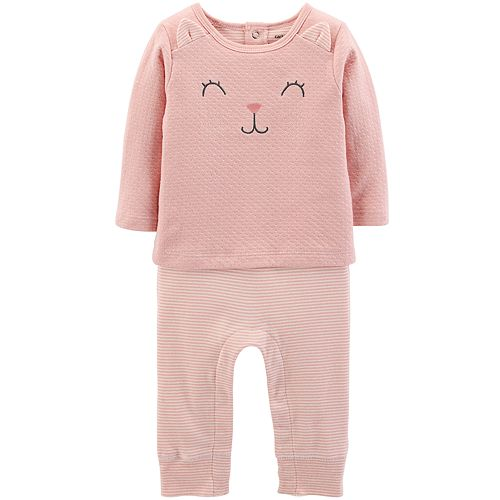Baby Girl Carter's Cat Ear Mock-Layered Jumpsuit