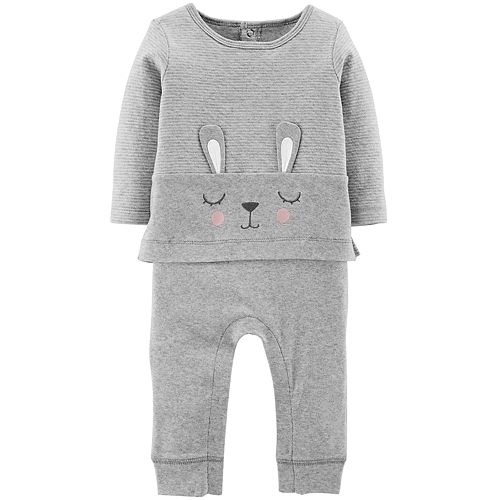 dccc4f60b Baby Girl Carter s Bunny Ear Mock-Layered Jumpsuit