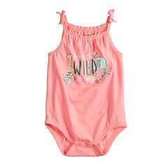 Baby Girl Jumping Beans® Print Smocked Bodysuit