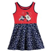 Disney's Minnie Mouse Baby Girl Glittery Graphic Patriotic Skater Dress by Jumping Beans®