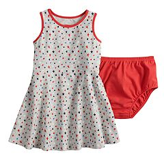 Baby Girl Jumping Beans® Star Skater Dress