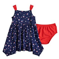 Disney's Minnie Mouse Baby Girl Handkerchief-Hem Dress by Jumping Beans®
