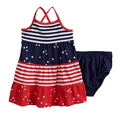 Baby Girl Jumping Beans® Tiered Patriotic Tank Dress