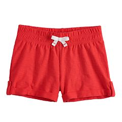 Baby Girl Jumping Beans® Slubbed Cuffed Shorts