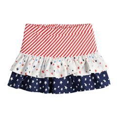 Baby Girl Jumping Beans® Patriotic Tiered Skort