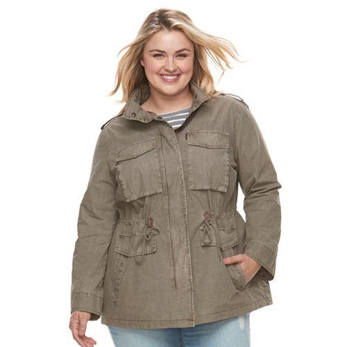 Plus Size Levi's Anorak Military Jacket