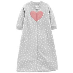 Baby Girl Carter's Microfleece Heart Print Sleep Bag