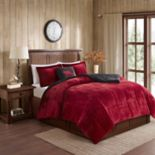 Woolrich Alton Plush to Sherpa Fleece Comforter Set