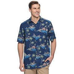 Big & Tall Batik Bay Classic-Fit Tropical Americana Shirt