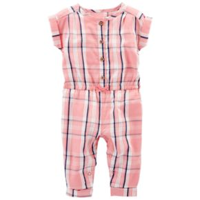 Baby Girl Carter's Plaid Jumpsuit