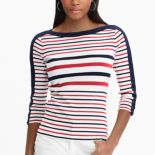 Women's Chaps Waffle-Knit Boatneck Top