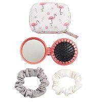 LC Lauren Conrad Beachy Flamingos Travel Hair Kit